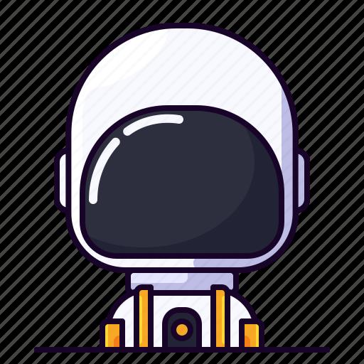 astronaut, avatar, male, planet, profession icon