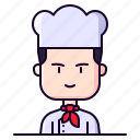 avatar, chef, cook, male, profession