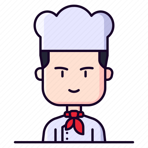 avatar, chef, cook, male, profession icon