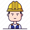avatar, construction, male, profession, worker
