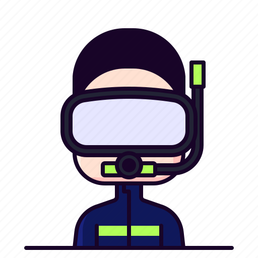 Avatar, diver, diving, male, profession icon - Download on Iconfinder
