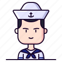 avatar, male, marine, profession, sailor