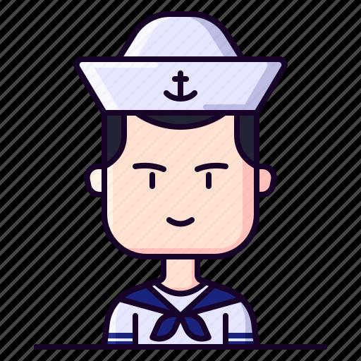 avatar, male, marine, profession, sailor icon