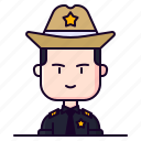 avatar, male, police, profession, sheriff