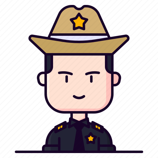 Avatar, male, police, profession, sheriff icon - Download on Iconfinder