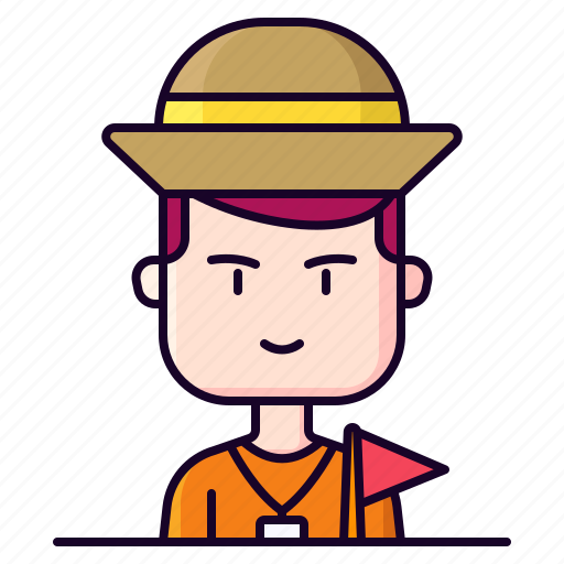 Avatar, guide, male, profession, tour icon - Download on Iconfinder