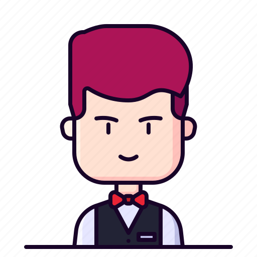 Avatar, male, profession, steward, waitress icon - Download on Iconfinder