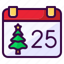 calendar, christmas, date, holiday, winter icon