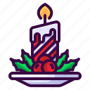 candle, christmas, fire, light, winter icon