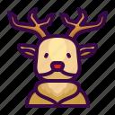 animal, christmas, deer, mammal, winter