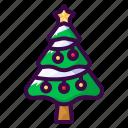christmas, decoration, nature, tree, winter icon