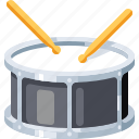 audio, drum, instrument, music, musical, percussion, sound icon