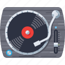 dj, media, music, play, player, sound, turntable icon