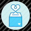 box, charity, donation, donation box, heart, love, save money icon