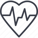 heart, cardiogram, clinic, medicine, charity, care