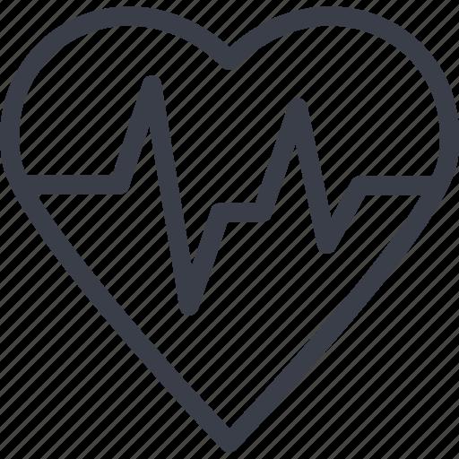 cardiogram, care, charity, clinic, heart, medicine icon