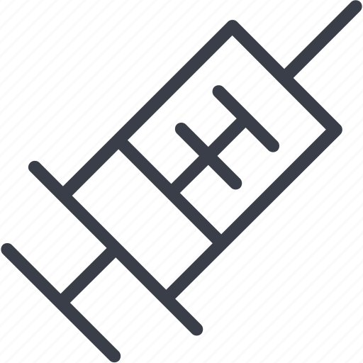 An injection, health care, clinic, medicine, care, charity icon