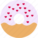 bread, dessert, donuts, doughnuts, food, hearts, sprinkles icon