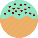 dessert, donuts, doughnuts, food, hearts, pastries, sprinkles icon