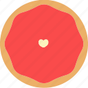 bread, dessert, donuts, doughnuts, food, heart, pastries icon