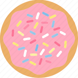 bread, dessert, donuts, doughnuts, food, pastries, sprinkes icon