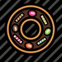 cream, donut, doughnut, sweet, topping