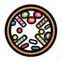 cream, donut, doughnut, sweet, topping icon