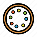 cream, donut, doughnut, sweet, topping icon