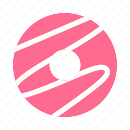bakery, donut, doughnut, iced, icing, pastry, pink icon