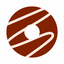 bakery, chocolate, donut, doughnut, iced, icing, pastry icon