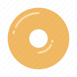 bakery, donut, doughnut, glazed, pastry, plain, sweet icon