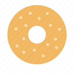 bakery, donut, doughnut, pastry, plain, sugar, sweet icon