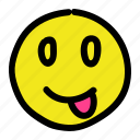 emoticon, mock, smiley, tongueout icon