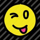emoticon, smile, smiley, tongueout icon