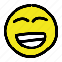 emoticon, happy, smile, smiley icon