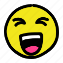 emoticon, laughing, roftl, smiley icon