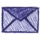 drawing, email, envelope icon