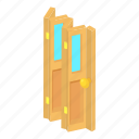 accordion, cartoon, door, doorway, entrance, home, house icon