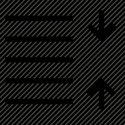 content, decrease, line, paragraph, space, text icon