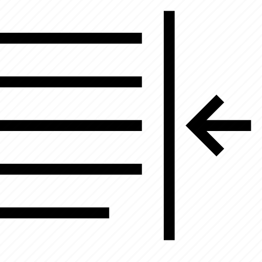 content, decrease, indent, paragraph, text icon