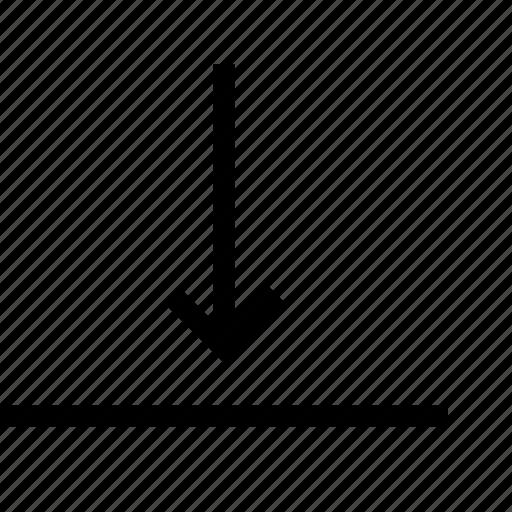 align, arrange, arrow, bottom, content, horizontal icon
