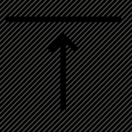 align, arrange, arrow, content, horizontal, top icon
