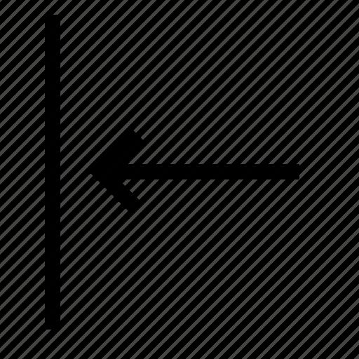 align, arrange, arrow, content, left, vertical icon