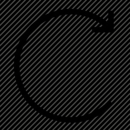 arrow, content, edit, redo, reload icon