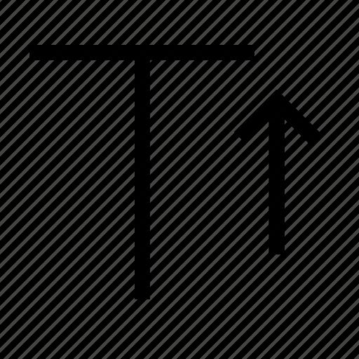 arrow, content, increase, size, text icon