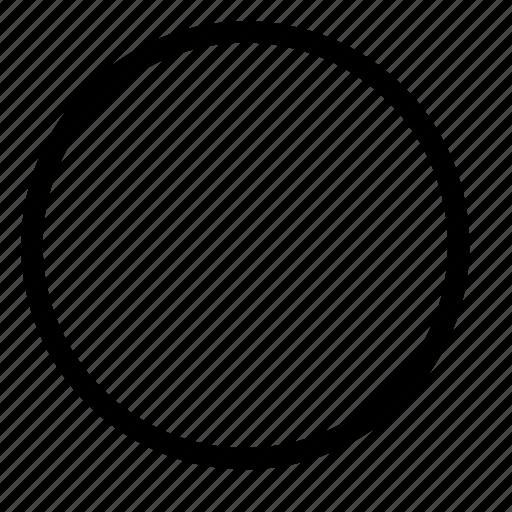 circle, design, figure, oval, shape icon