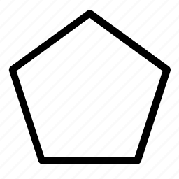 design, figure, pentagon, polygon, shape icon