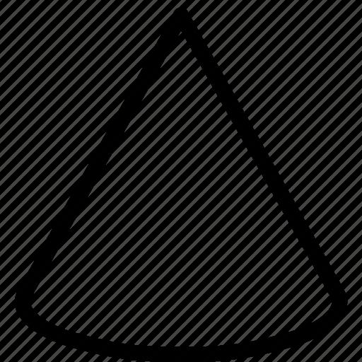 3d, cone, design, geometry, shape icon