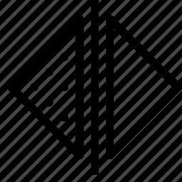 align, arrange, design, graphic, horizontal, tool icon