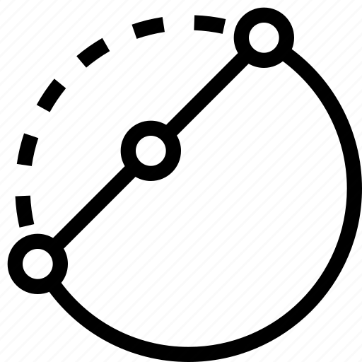 circle, design, edit, point, shape, vector icon
